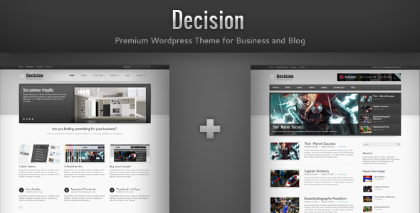 Decision - Business and Blog Wordpress Theme - intro
