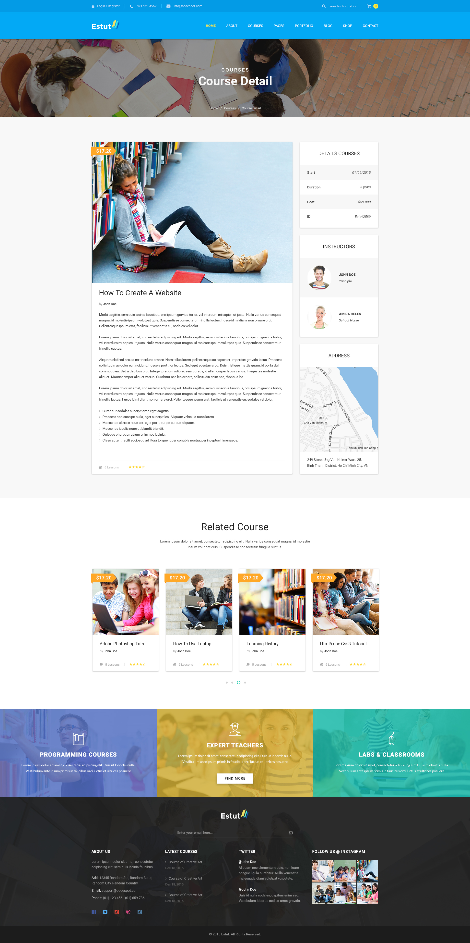 ESTUT Elearning Online Course Premium Responsive