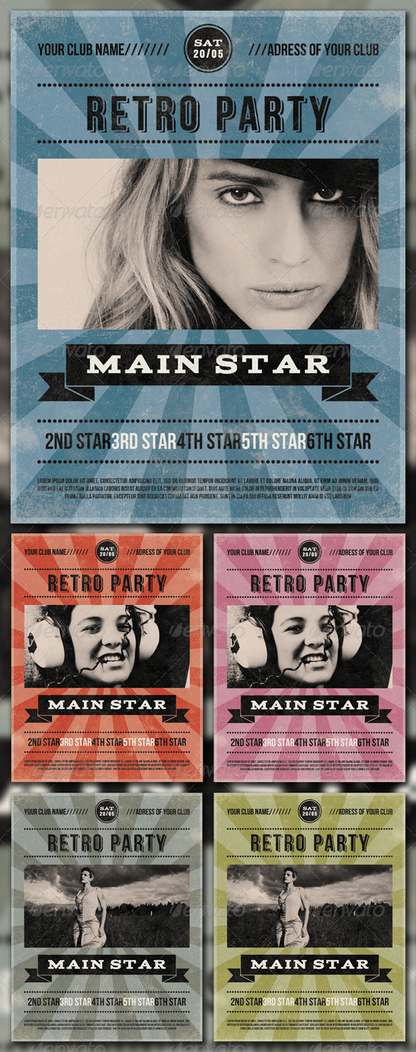GraphicRiver RETRO PARTY 1616805