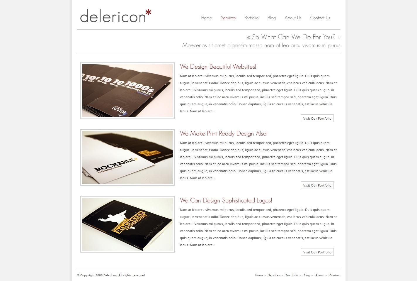 Delericon Business/Portfolio Template