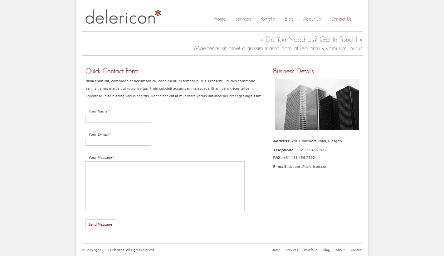 Delericon Business/Portfolio Template