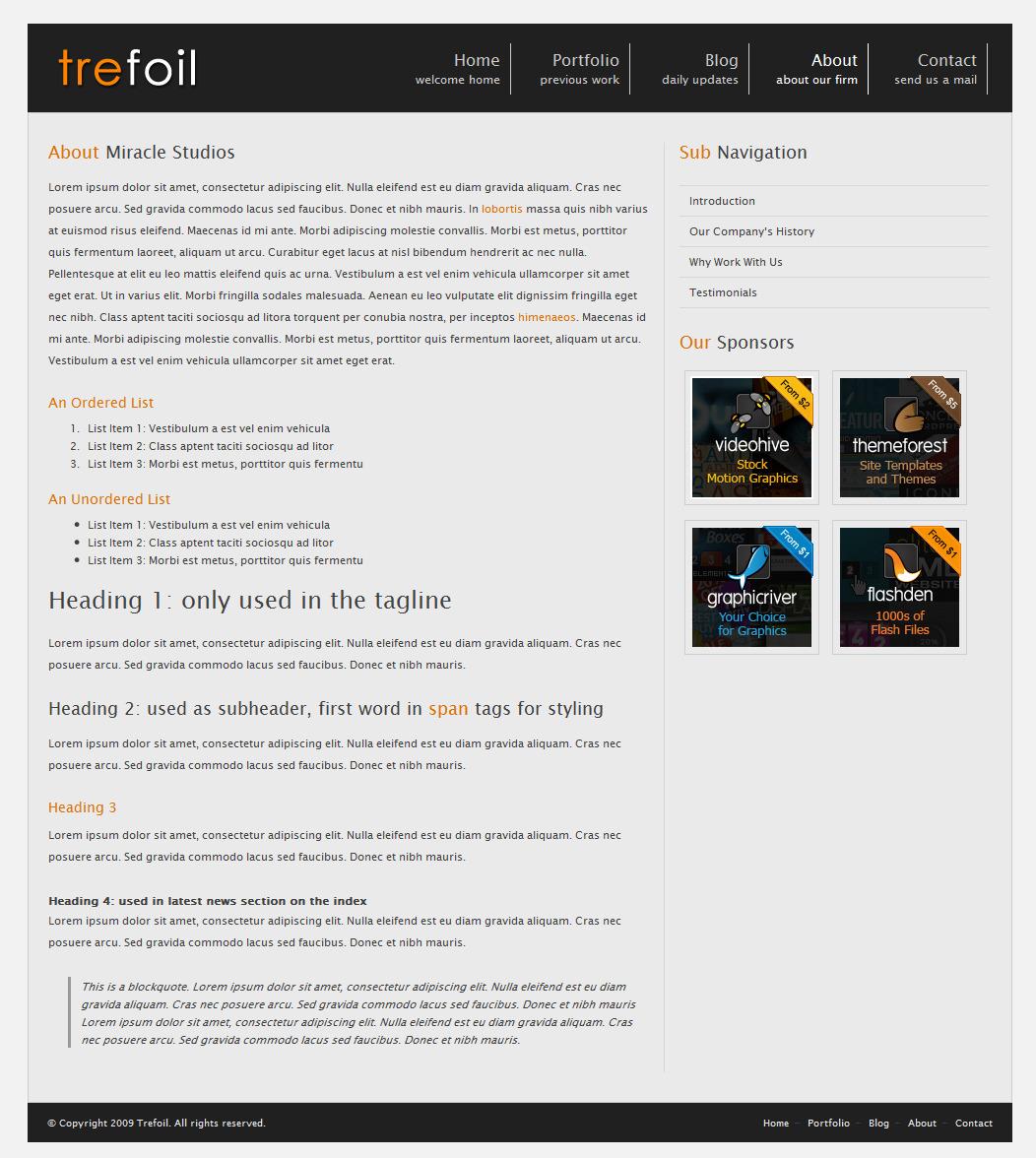 Trefoil Business/Portfolio Template