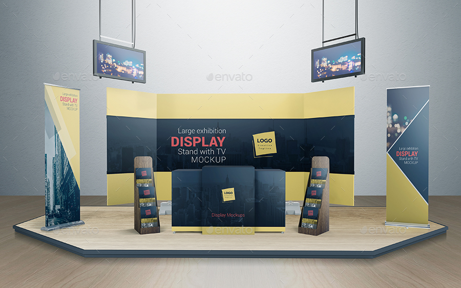 Pop Up Exhibition Stand Mockup Free : Various tradeshow exhibition booth mockups by vectogravic