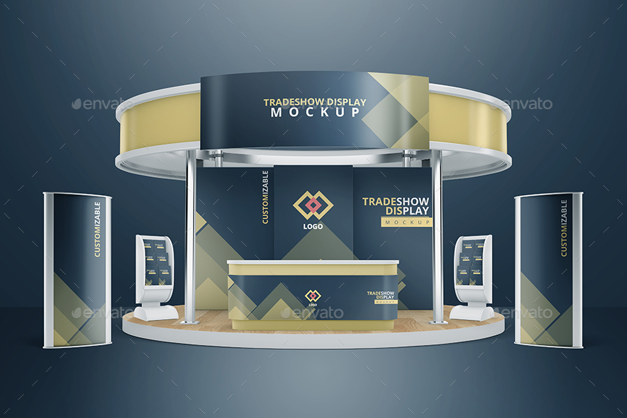 Mock Up Exhibition Stand Psd Free Download : Various tradeshow exhibition booth mockups by vectogravic