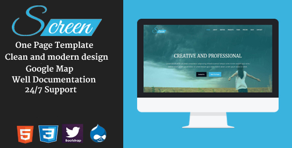 Screen - Onepage Creative Drupal Theme