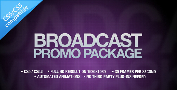 After Effects Project - VideoHive Broadcast Promo Package 1631102