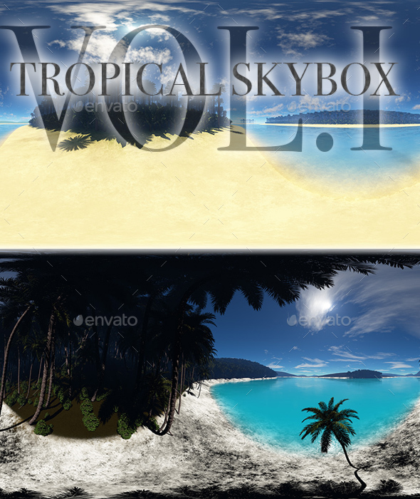 Tropical Skybox Pack Vol.I - 3DOcean Item for Sale