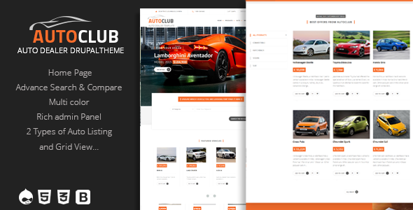 Image of Auto Club - Responsive Car Dealer Drupal Theme