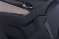 Car interior black door panel
