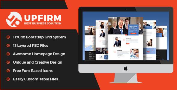 UpFirm- Multi Purpose PSD Template