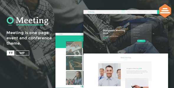 Meeting - A Single Page Event HTML Template