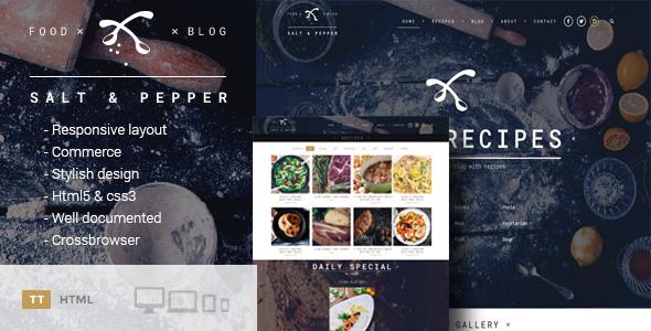 Salt & Pepper - Cooking HTML template