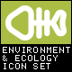 Environment & Ecology Outline Bold Icons