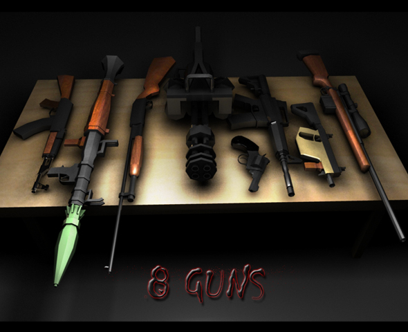 8 guns package - 3DOcean Item for Sale