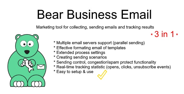 Bear Business Email - finder, sender, tracking tool - CodeCanyon Item for Sale