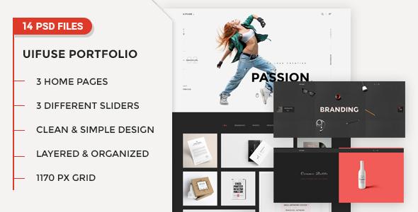 UiFuse - Creative PSD Template