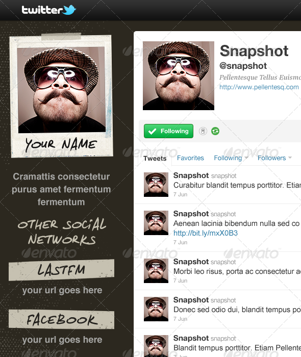 Snapshot - Twitter Background - Twitter Social Media