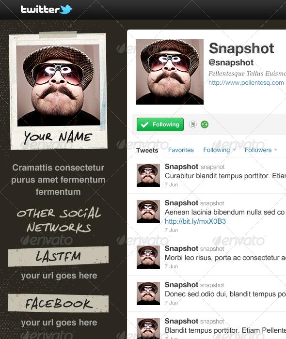 Snapshot - Twitter Background - Twitter Social Media