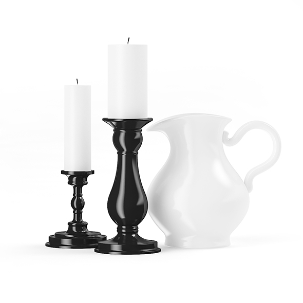 Two Candles and a Jug - 3DOcean Item for Sale