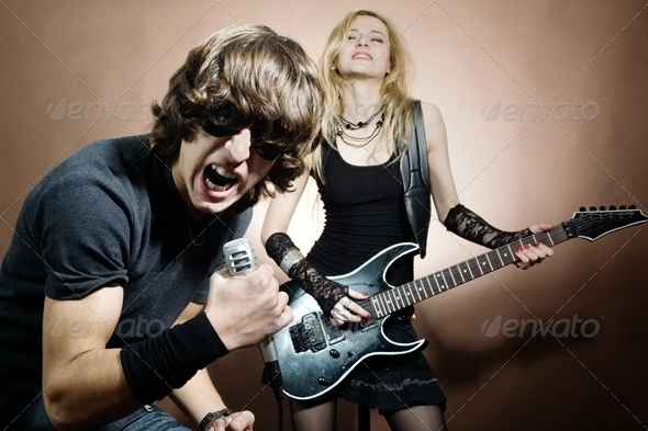Rock singer - Stock Photo - Images