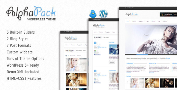 ThemeForest Alphapack Premium WordPress Theme 1633352