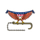 American Eagle Clutching Towing J Hook USA Flag