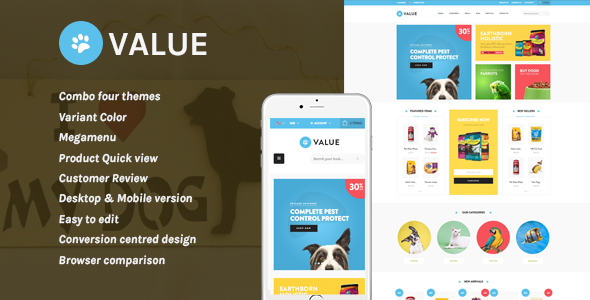 Image of Leo Value Responsive Prestashop Theme