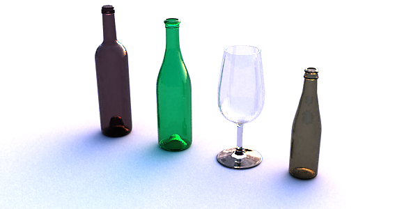 Wine bottle and glass - 3DOcean Item for Sale