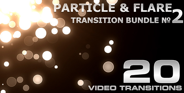 VideoHive Particle & Flare Transition Bundle 2 1633889