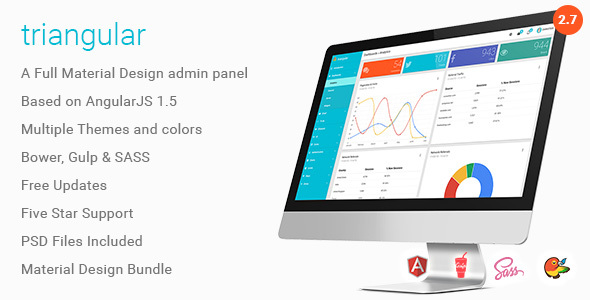 6. Triangular - Material Design Admin Template AngularJS