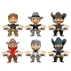 Six Men Characters In Cartoon Wild West Style