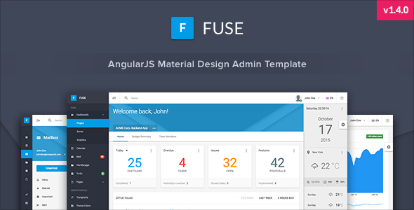 3. Fuse - AngularJS Material Design Admin Template