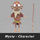 Mysty Lowpolygon Character