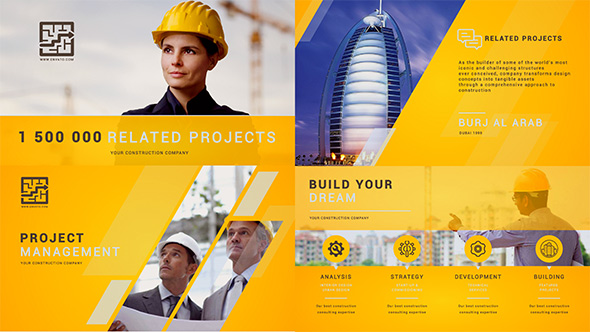 Construction Building Presentation - Professional After Effects Template