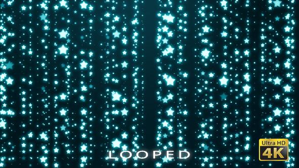 Blue Stars Glitter Backrgound - Tapahtumat Taustat Motion Graphics