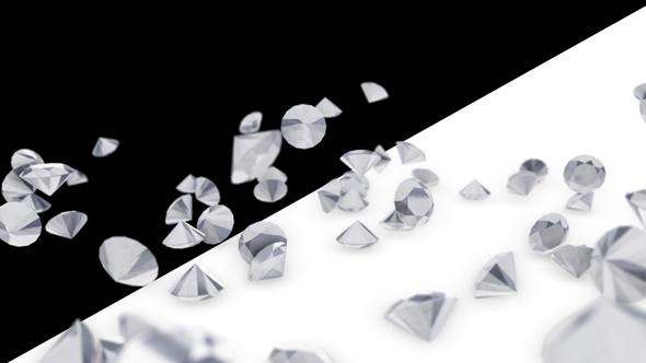 Falling Diamonds - 3D, Object Elements Motion Graphics