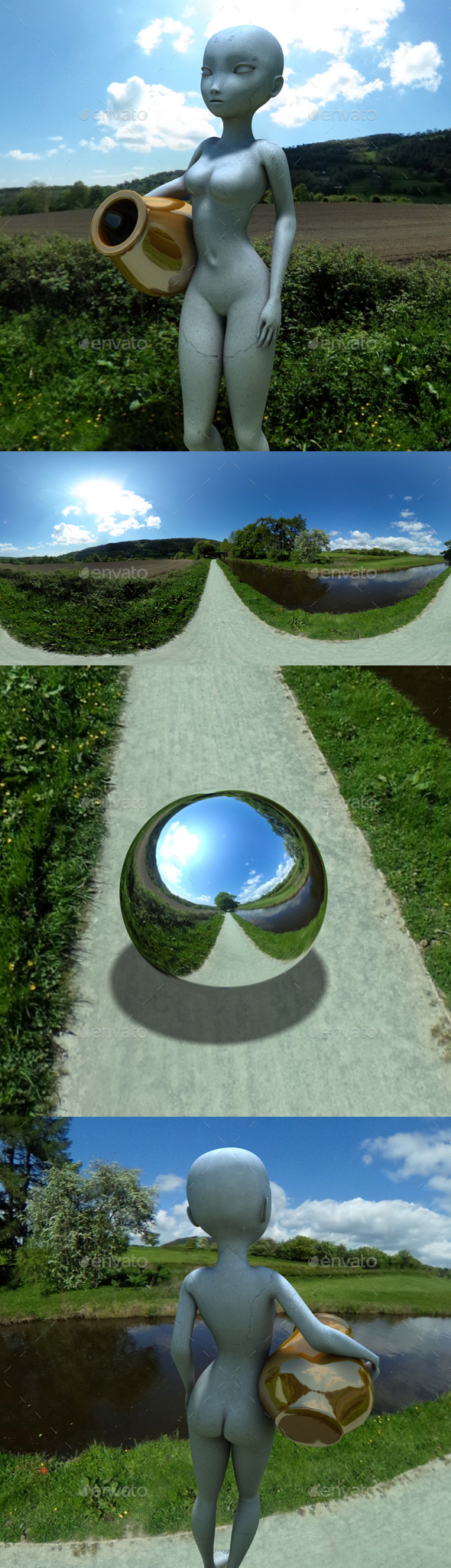 Canal Riverside HDRI - 3DOcean Item for Sale