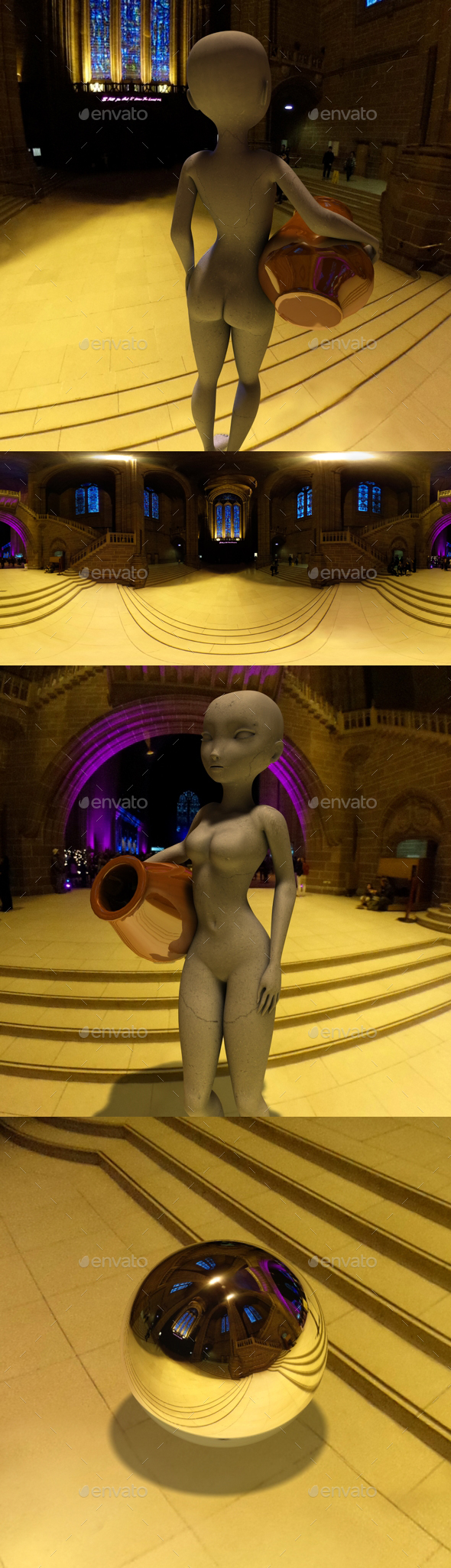 Cathedral Hall HDRI - 3DOcean Item for Sale