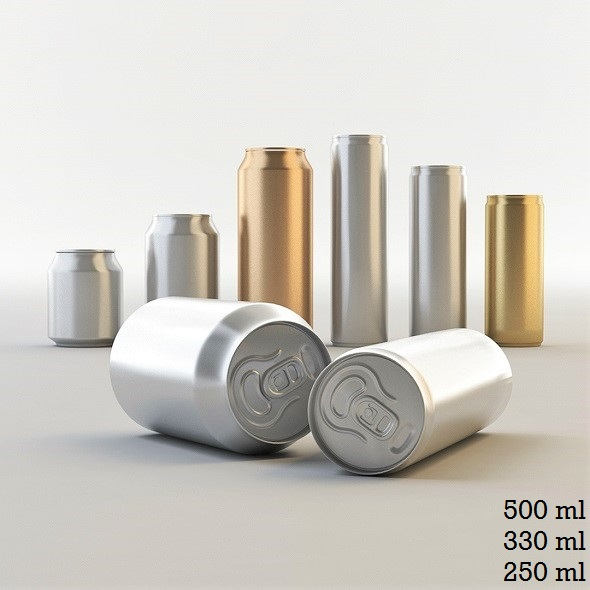 3D Drink Cans  - 3DOcean Item for Sale