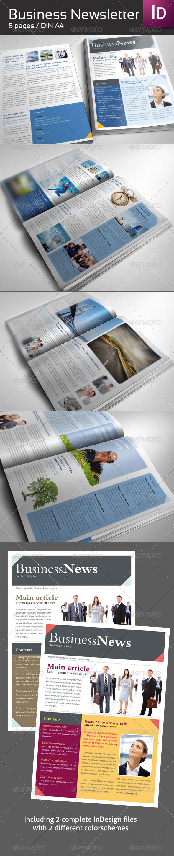 Business Newsletter DIN A4 - Newsletters Print Templates