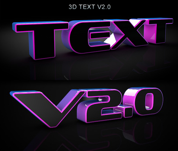 3DOcean 3D Dark Text V2.0 3D Models -  Miscellaneous 1634263