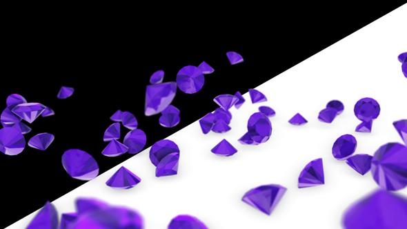 Falling Ametisti - 3D, Object Elements Motion Graphics