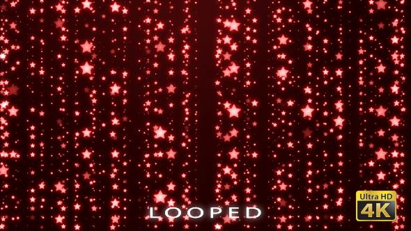 Red Stars Glitter Backrgound - Tapahtumat Taustat Motion Graphics