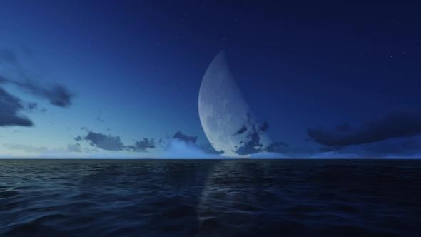 Night Ocean In The Fog - Taustat Luonnosta Motion Graphics