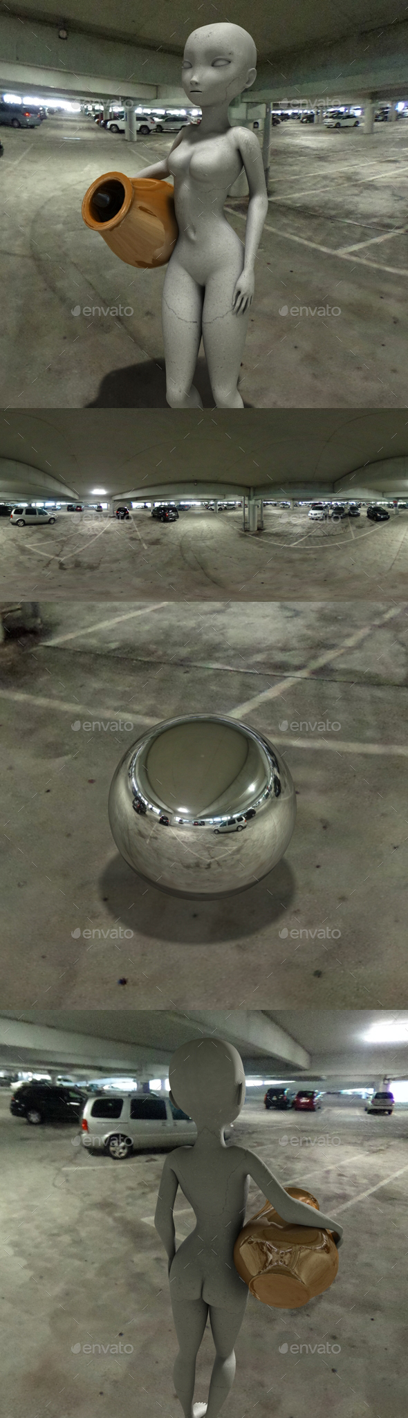Indoor Carpark HDRI - 3DOcean Item for Sale