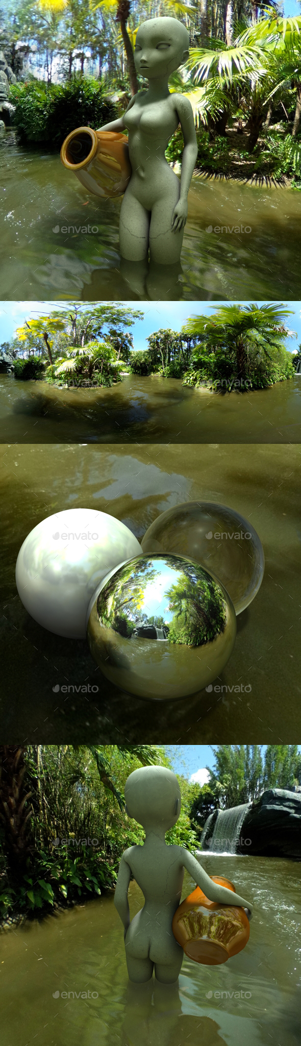 Jungle River HDRI - 3DOcean Item for Sale