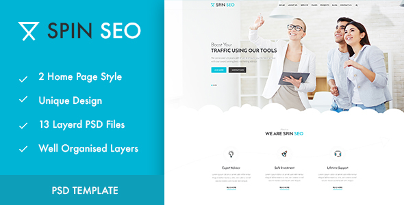 SPIN SEO - SEO & Business PSD Template