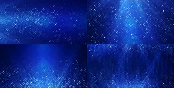 Tekniset hiukkaset (4-Pack) - abstrakti taustat Motion Graphics