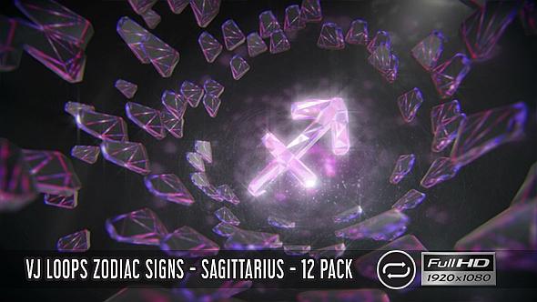 VJ Loops horoskooppi - Jousimies - 12 Pack - Light Taustat Motion Graphics