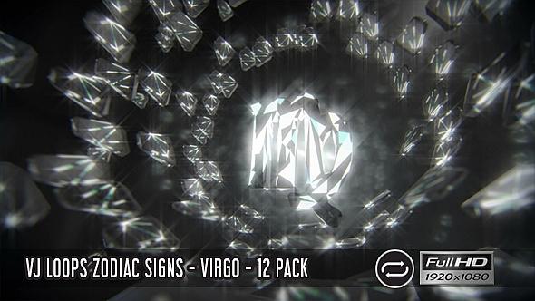 VJ Loops horoskooppi - Virgo - 12 Pack - Light Taustat Motion Graphics